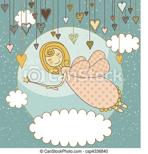 Sweet Fairy Card - csp4336840