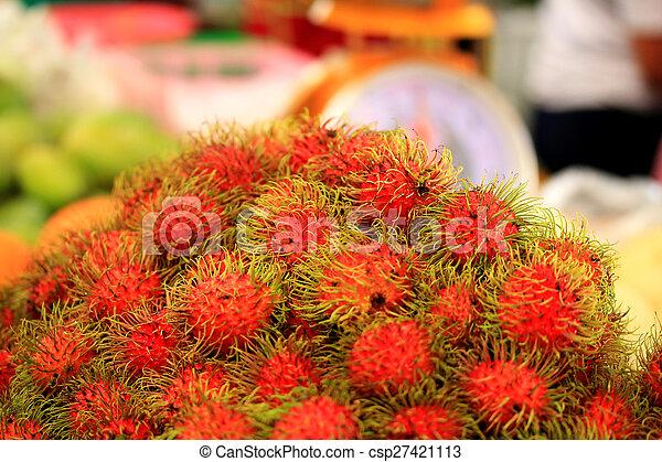 Sweet fruits rambutan - csp27421113