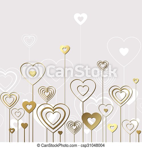 Sweet gold hearts - csp31048004