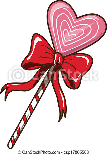 sweet heart candy isolated on white sketch vector element for