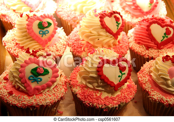 Sweet Heart Cup Cakes - csp0561607