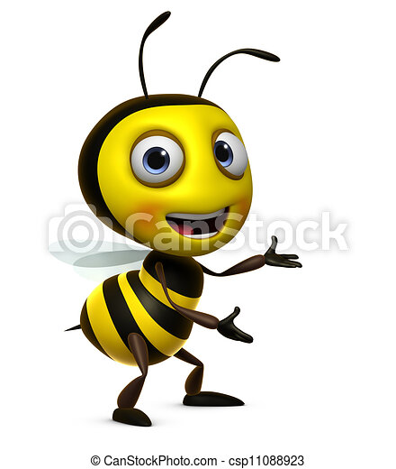 Sweet Honey Bee Stock Illustration