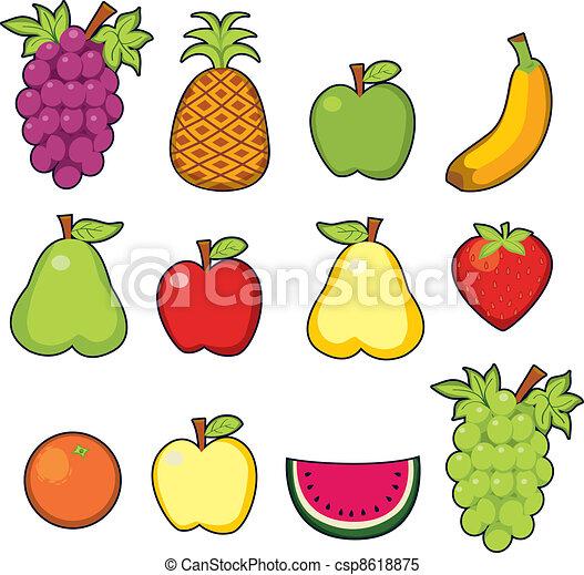 sweet juicy fruits set of twelve colorful fresh sweet juicy fruits