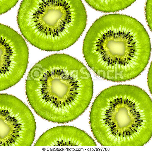 sweet kiwi slices background - csp7997788