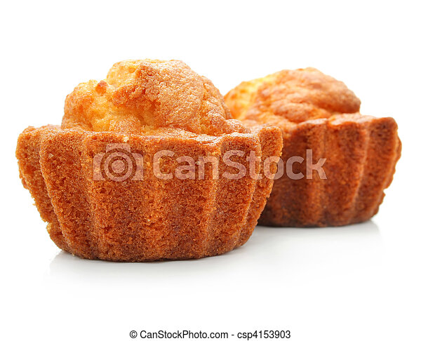 sweet pastry cakes isolated on white - csp4153903