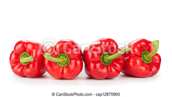 Sweet pepper isolated on a white background - csp12870993