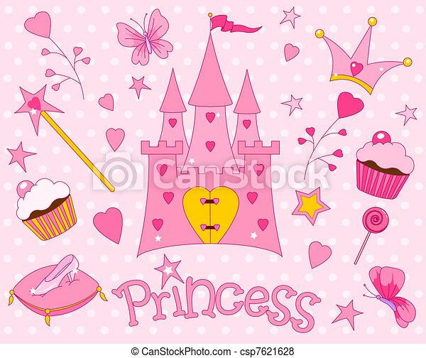 Sweet Princess Icons - csp7621628
