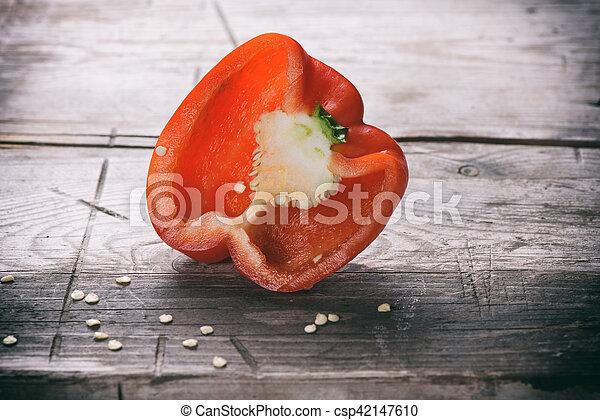 sweet red bell pepper - csp42147610