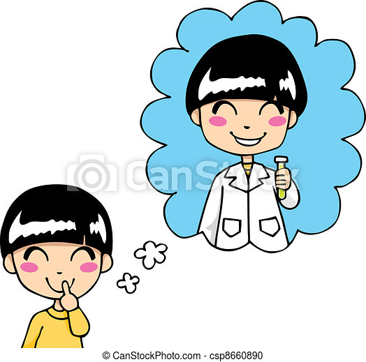 sweet scientist dream cute little boy dreaming being a smart rh canstockphoto com dream clip art free images dream clipart images