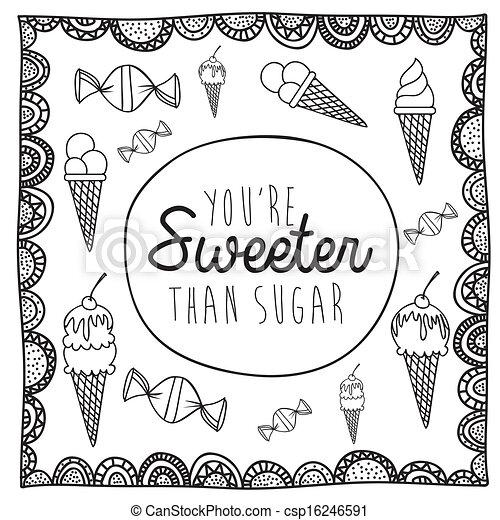 sweeter drawing - csp16246591
