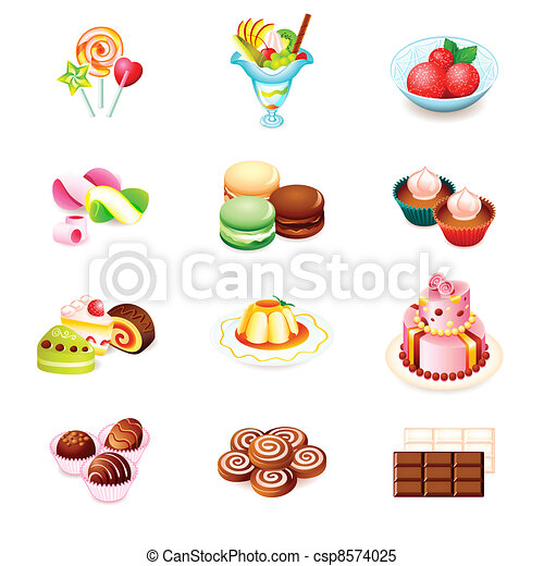 Sweets icons - csp8574025