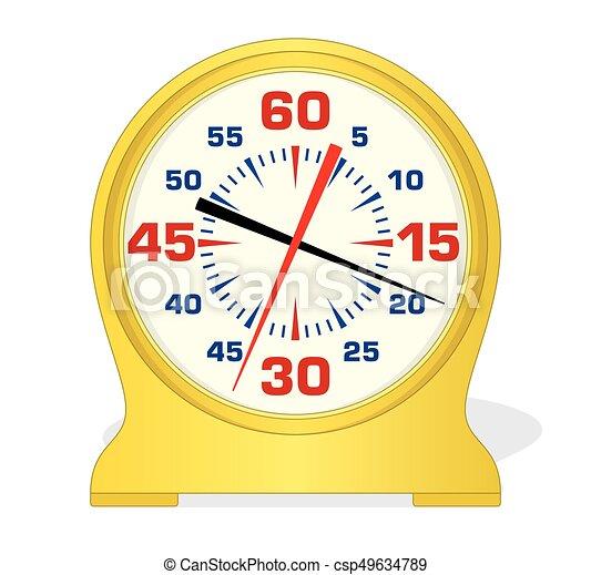 swim pace clock - csp49634789