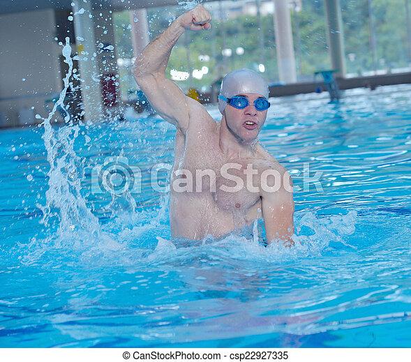 swimmer athlete - csp22927335