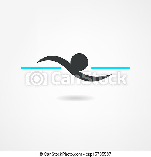 swimmer icon - csp15705587