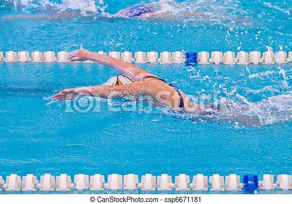 swimmer - csp6671181