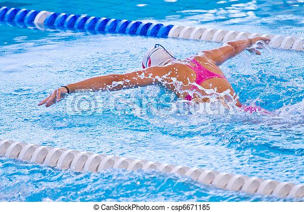 swimmer - csp6671185