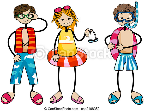 swimming kids stock illustration search clipart drawings and rh canstockphoto com