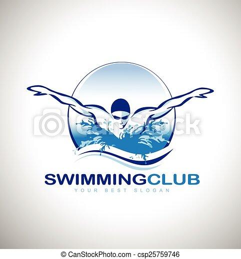 Swimming Logo Swimming Design Swimmer Design Creative