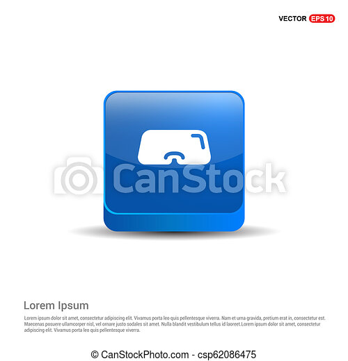 Swimming Mask Icon - 3d Blue Button - csp62086475