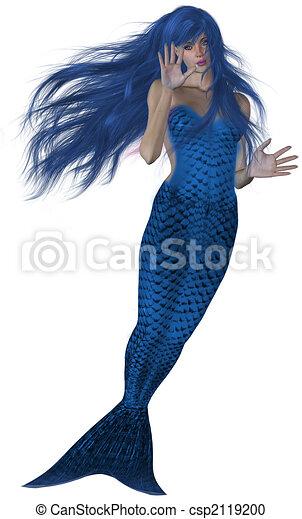 Swimming Mermaid - csp2119200