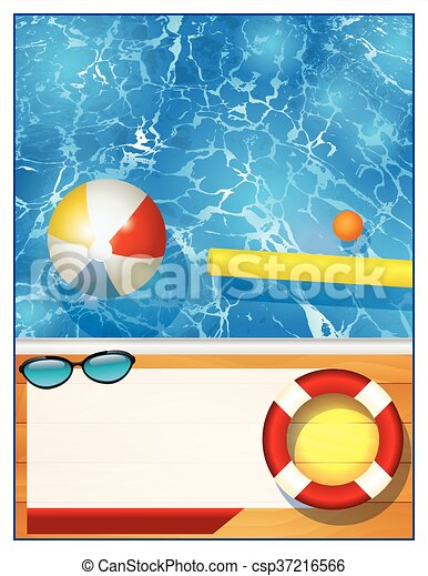 Swimming Pool Background Template A Blank Swimming Pool