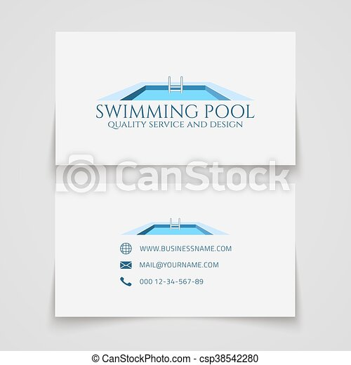 Swimming pool business card business card template swimming pool swimming pool business card csp38542280 colourmoves
