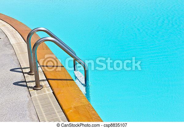 swimming pool ladder - csp8835107