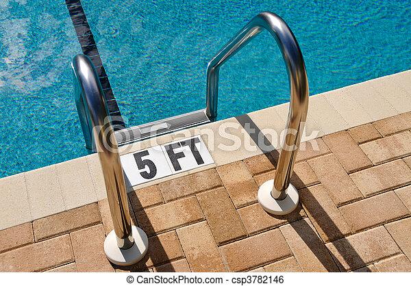 Swimming Pool Ladder - csp3782146