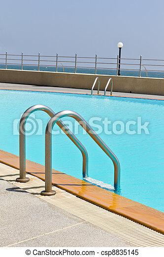 swimming pool ladder - csp8835145