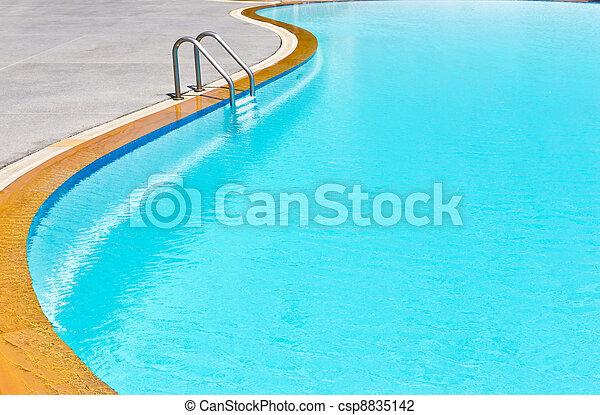 swimming pool ladder - csp8835142