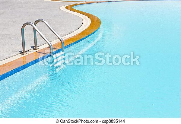 swimming pool ladder - csp8835144