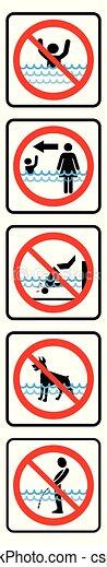 Swimming pool rules-Vertical type. - csp75075026