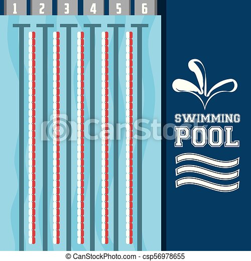 swimming pool sport game to competition - csp56978655