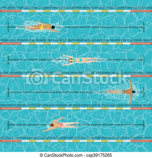 Swimming Pool With People