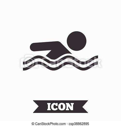 swimming pool logo design. Fine Pool Swimming Sign Icon Pool Swim Symbol  Csp38862895 With Logo Design