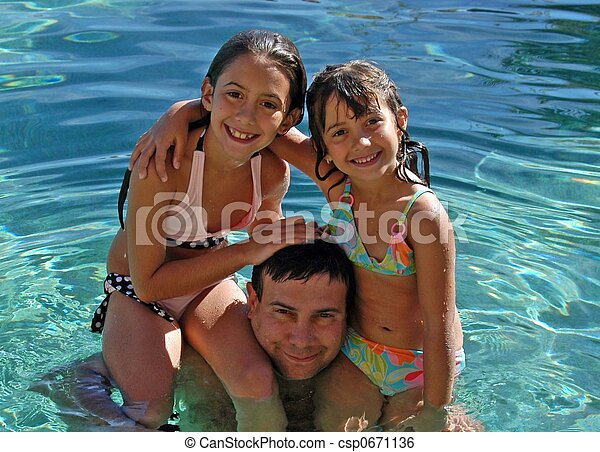 swimming with Dad - csp0671136