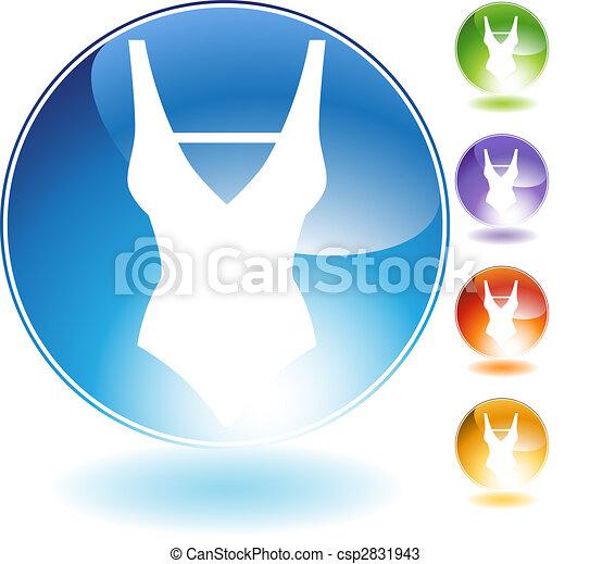Swimwear Crystal Icon - csp2831943