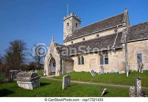 Iglesia Cotswold en Swinbrook - csp17321433