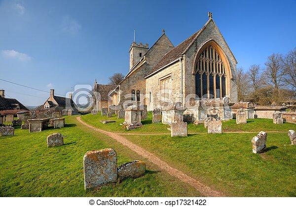 Iglesia Cotswold en Swinbrook - csp17321422