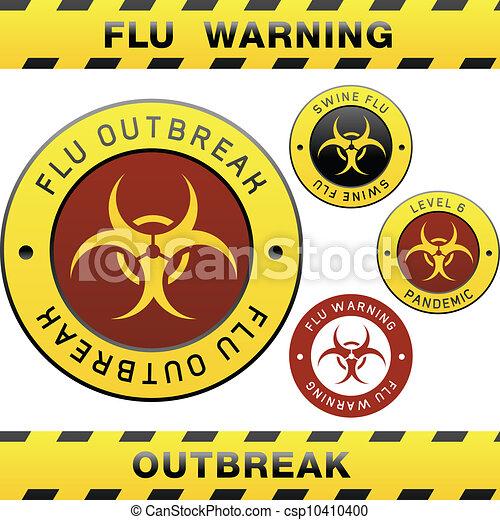 Swine flu warning sign - csp10410400