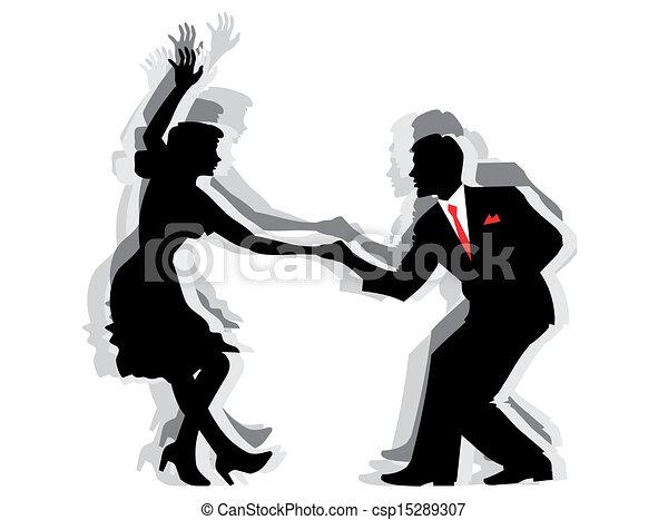Swing Dance Couple - csp15289307