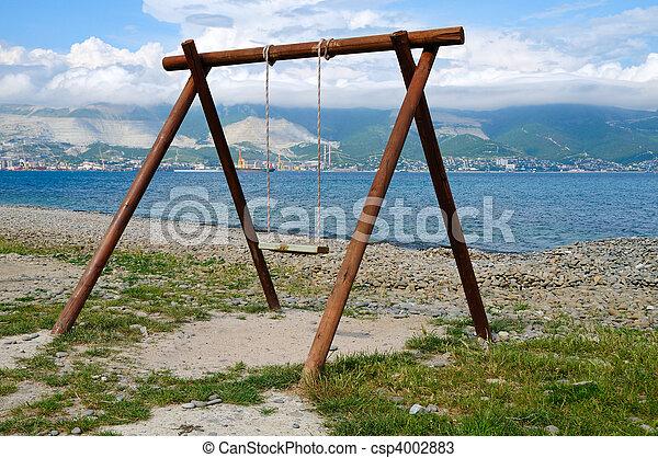Swing on to coast Tsemes Bay - csp4002883
