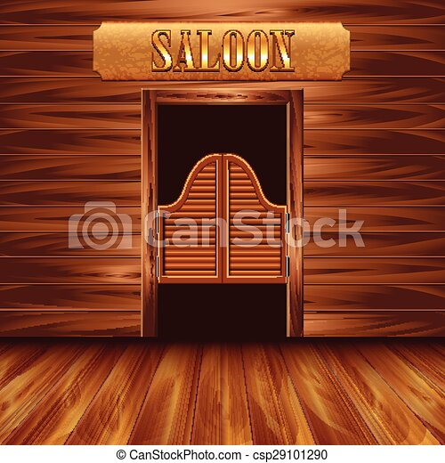 Swinging doors of saloon western swinging doors of saloon - Dessin saloon ...