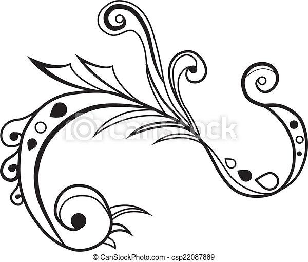 fancy decorative swirl vector search clip art illustration rh canstockphoto com spiral vector art swirl floral design vector art