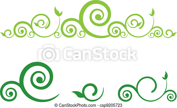 Swirl floral border green floral border with swirls swirl floral border csp9205723 altavistaventures Images