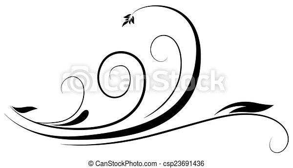 swirl floral abstract retro swirl decorative festive floral rh canstockphoto com swirl vectors png swirl vector free
