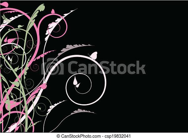SWIRL ON BLACK - csp19832041