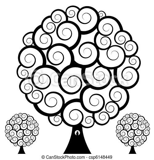 Swirl Tree Owl - csp6148449