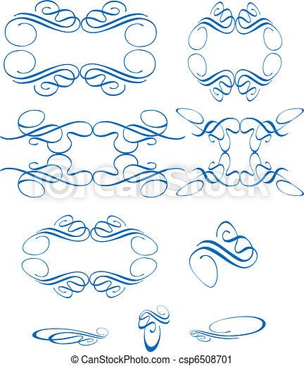 swirls on white - csp6508701