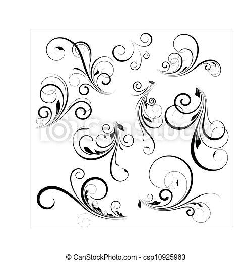 swirls, vector - csp10925983